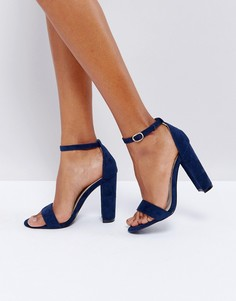 Темно-синие босоножки на каблуке Glamorous - Темно-синий
