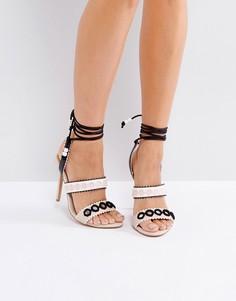 Босоножки на шнуровке и с ремешками Forever Unique - Кремовый