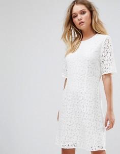 Кружевное платье Selected - Белый