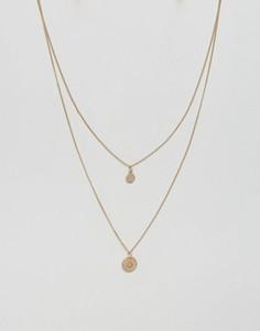 Ярусное ожерелье ASOS - Золотой