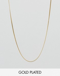 Цепочка из позолоченного серебра ASOS - Золотой