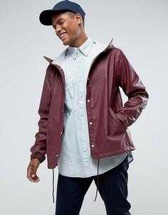 Непромокаемая куртка винного цвета с капюшоном Herschel Forecast - Красный