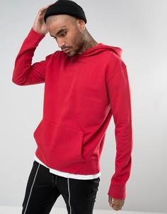 Красный худи с заниженной линией плеч Mennace - Красный