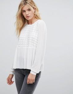 Блузка с вышивкой Pepe Jeans Gaynor - Белый