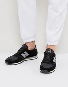 Черные замшевые кроссовки New Balance 420 U420PKB - Черный