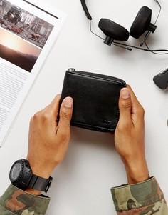 Черный бумажник с круговой молнией Vans VA31JABLK - Черный
