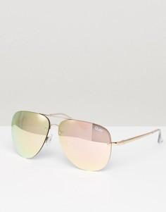 6cfa51e5ccd2 Солнцезащитные очки-авиаторы в оправе цвета розового золота Quay Australia  Muse - Золотой