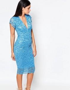 Кружевное платье миди Honor Gold - Синий