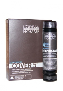 Тонирующий гель Кавер 5 №4 LOreal Professional Homme - Уход за волосами и тонирование седины для мужчин 150 мл Homme - Уход за волосами и тонирование седины для мужчин 150 мл