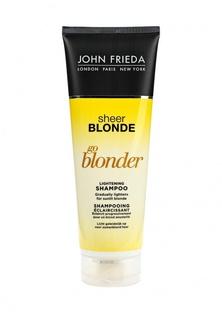 Шампунь John Frieda Sheer Blonde Go Blonder осветляющий для натуральных, мелированных и окрашенных волос, 250 мл