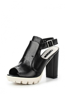 Босоножки LOST INK RAINE HIGH VAMP CLEAT SOLE BLOCK HEEL SANDAL - BLACK