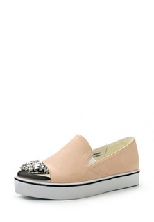 Слипоны LOST INK MIKLIE JEWEL TOE PLIMSOLL - NUDE