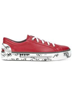 кроссовки с расписанной подошвой Lanvin