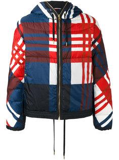 куртка-пуховик в клетку Moncler Gamme Bleu