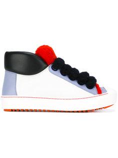 кроссовки с отделкой из овчины Fendi