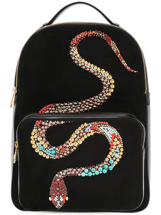 Snake embellished backpack Roberto Cavalli