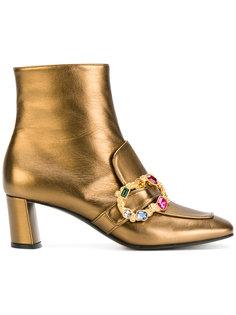ботинки с пряжкой из кристаллов Casadei
