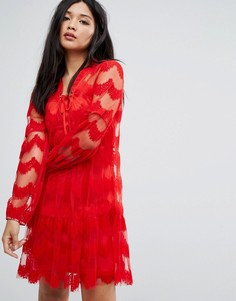 Кружевное платье Boohoo - Красный