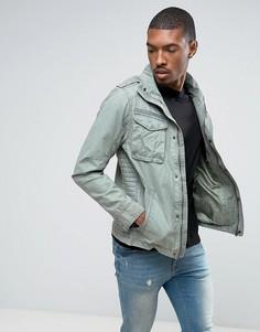 Байкерская куртка из ткани с добавлением хлопка Tom Tailor - Зеленый