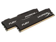 Модуль памяти Kingston HyperX Fury Black Series PC3-12800 DIMM DDR3 1600MHz CL10 - 8Gb KIT (2x4Gb) HX316C10FBK2/8