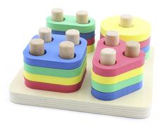 Сортер Мир деревянных игрушек Логический квадрат Д020