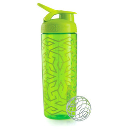 Шейкер BlenderBottle SportMixer Sleek 828ml Zen Gala Pattern Green BB-SMSK-ZEGA
