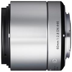 Объектив Sigma Sony E AF 60 mm F/2.8 DN ART for NEX Silver