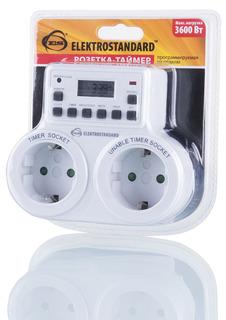 Таймер Elektrostandard TMH-E-5 IP20 White розетка