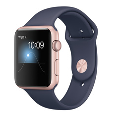Умные часы APPLE Watch Series 2 42mm Pink Gold with Dark Blue Band MNPL2RU/A