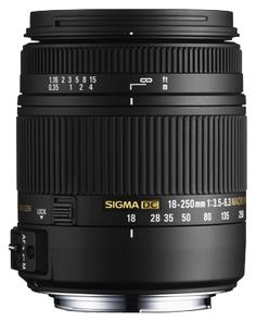 Объектив Sigma Nikon AF 18-250 mm F/3.5-6.3 DC OS HSM MACRO