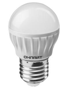 Лампочка ОнЛайт 71 626 OLL-G45-8-230-2.7K-E27