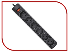 Сетевой фильтр Defender DFS 153 6 Sockets 3.0m Black 99495
