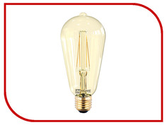Лампочка IN HOME LED-ST64-deco 7W 3000K 230V 630Lm E27 Gold 4690612008097