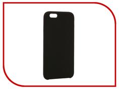 Аксессуар Чехол BROSCO Soft Rubber для APPLE iPhone 6 Black IP6-SOFTRUBBER-BLACK