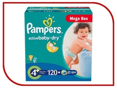 Подгузники Pampers Active Baby-Dry Maxi Plus 9-16кг 120шт 4015400264972