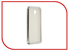 Аксессуар Чехол Meizu M3 Note SkinBox Silicone Chrome Border 4People Silver T-S-MM3N-008