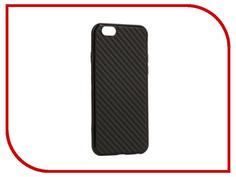 Аксессуар Чехол Krutoff Silicone Carbon для iPhone 6/6S Black 11838