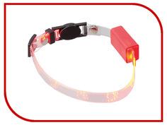Ошейник светодиодный V.I.Pet Лапки 20-27cm Red 14-9002