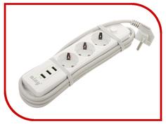 Сетевой фильтр Ainy KA-001B 3 Sockets 3xUSB White