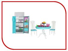 Игра 1Toy Красотка набор мебели для кукол, кухонный стол+холодильник Т52112