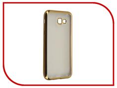 Аксессуар Чехол Samsung Galaxy A7 (2017) SkinBox Silicone Chrome Border 4People Gold T-S-SGA72017-008
