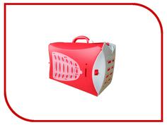 Переноска UP 46x28x32cm Red 4606 для кошек и собак