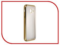 Аксессуар Чехол-накладка Samsung Galaxy A5 (2017) SkinBox Silicone Chrome Border 4People Gold T-S-SGA52017-008