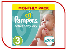 Подгузники Pampers Active Baby-Dry Midi 5-9кг 208шт 8001090172518