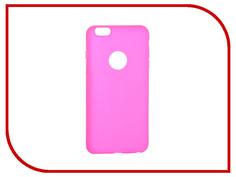 Аксессуар Чехол Krutoff Silicone для iPhone 6 Plus Pink 11814
