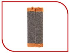 Когтеточка Царапка ковролиновая угловая с мехом 44x18cm А124
