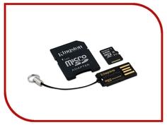 Карта памяти 64Gb - Kingston - Micro Secure Digital XC UHS-I Class 10 MBLY10G2/64GB c карт-ридером + переходник под SD