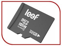 Карта памяти 32Gb - Leef - Micro Secure Digital HC Class 10 LFMSD-03210R