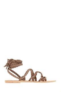 Замшевые сандалии Kariatida Mid Ancient Greek Sandals