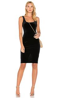 Атласное миди платье - Bardot